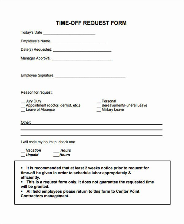 25 Time F Request forms In Pdf