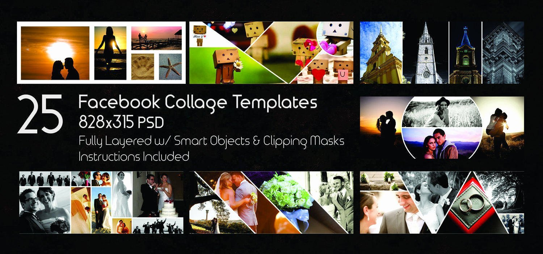 25 Timeline Template Collage Digital