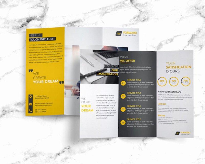 25 Tri Fold Brochure Templates Psd Ai & Indd Free
