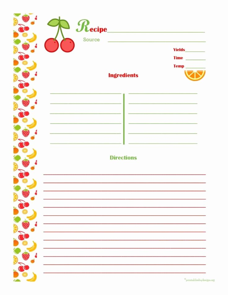 25 Unique Cookbook Template Ideas On Pinterest