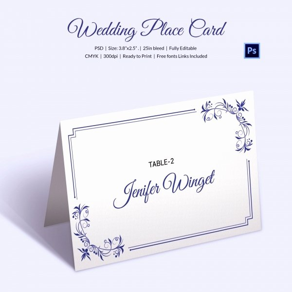 25 Wedding Place Card Templates