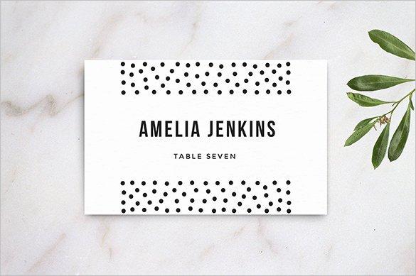 25 Wedding Place Card Templates