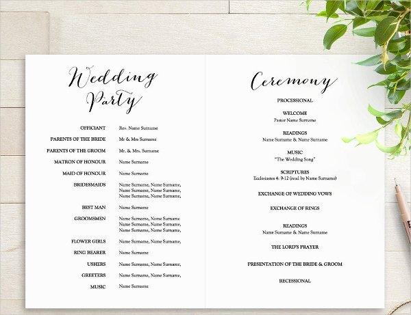 25 Wedding Program Templates Free Psd Ai Eps format