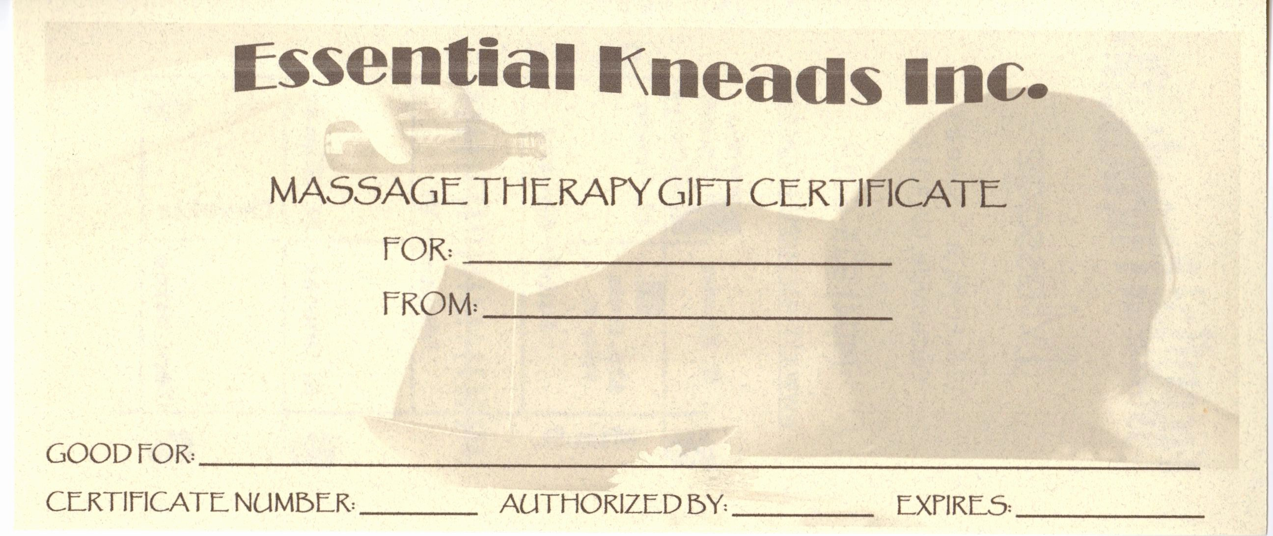 picture about Printable Massage Gift Certificate known as 5 Least difficult Of Printable Mage Present Certification Latter