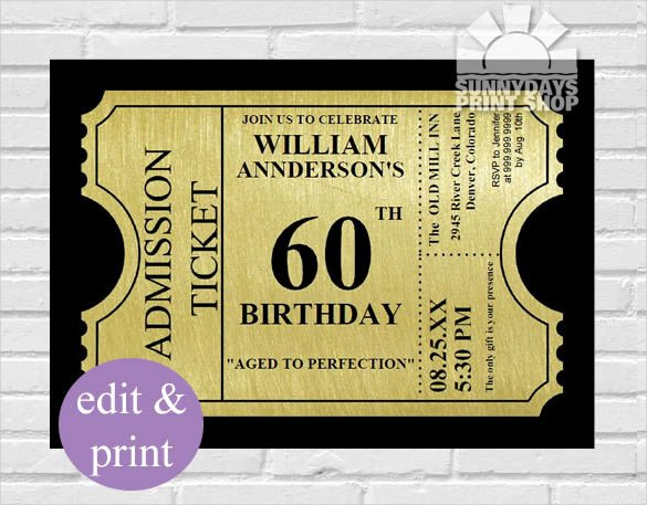 26 60th Birthday Invitation Templates Psd Ai