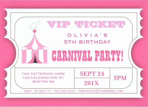 26 Carnival Birthday Invitations – Free Psd Vector Eps