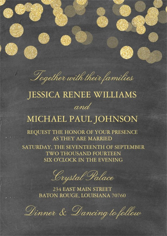 26 Chalkboard Wedding Invitation Templates – Free Sample