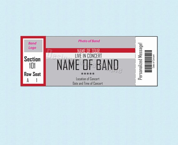 26 Cool Concert Ticket Template Examples for Your event