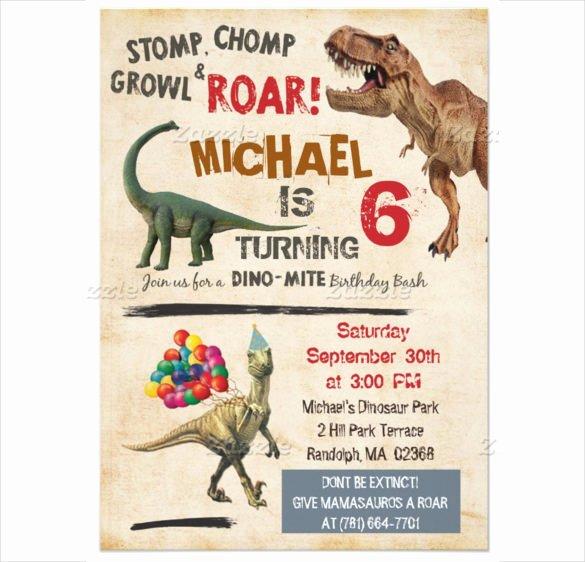26 Dinosaur Birthday Invitation Templates – Free Sample