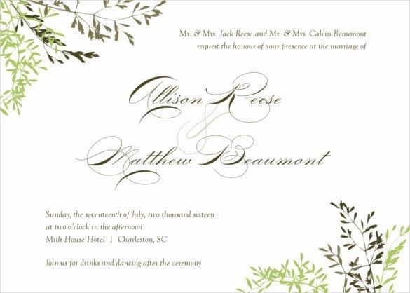 26 Fall Wedding Invitation Templates – Free Sample