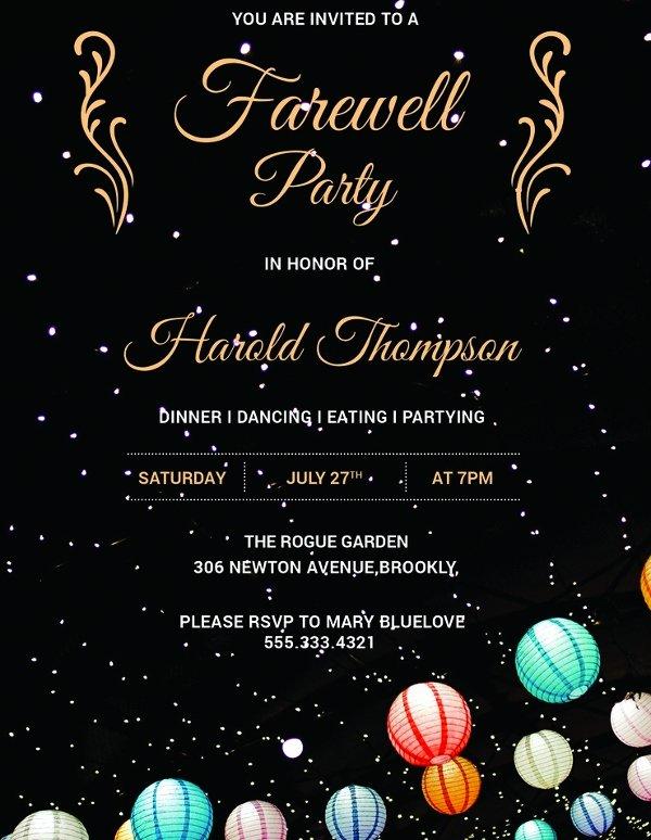 26 Farewell Invitation Templates Psd Eps Ai