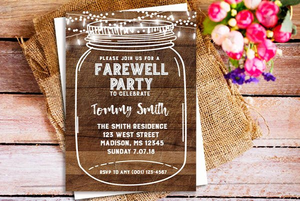 26 Farewell Invitation Templates Psd Eps Ai