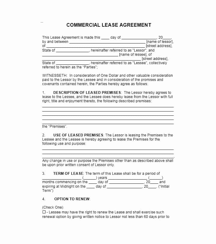 mercial lease agreement