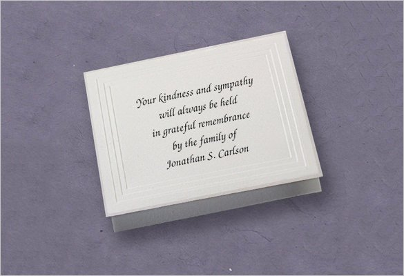 26 Funeral Thank You Cards Psd Ai Eps