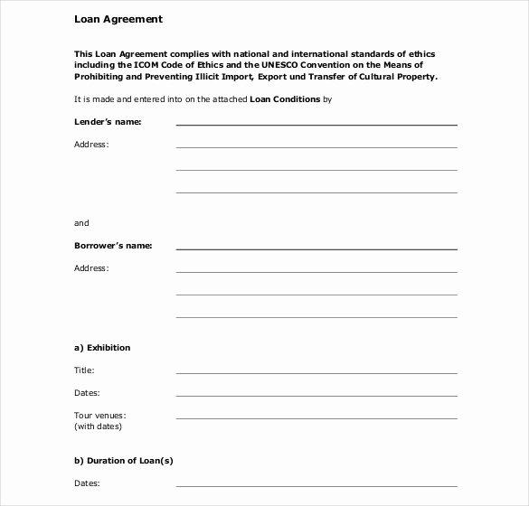 26 Great Loan Agreement Template