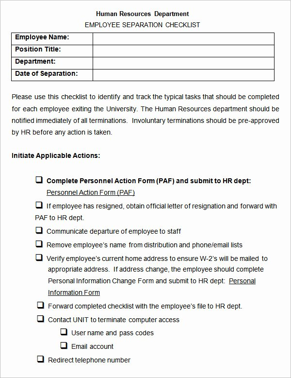 26 Hr Checklist Templates Free Sample Example format