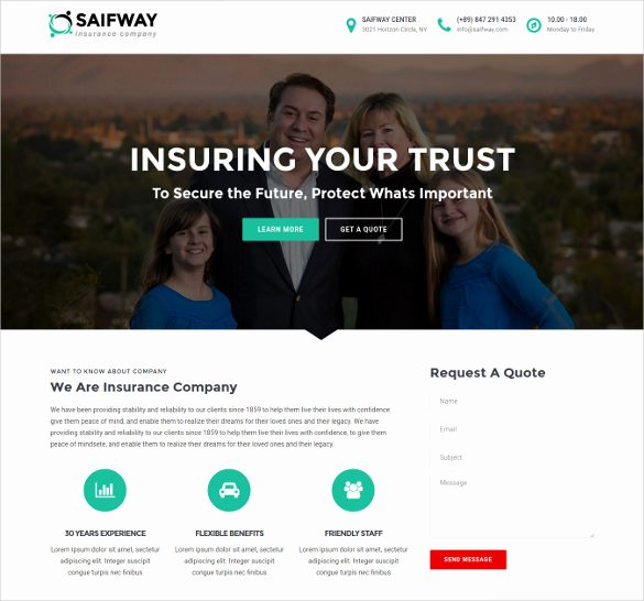 26 Insurance Website themes & Templates