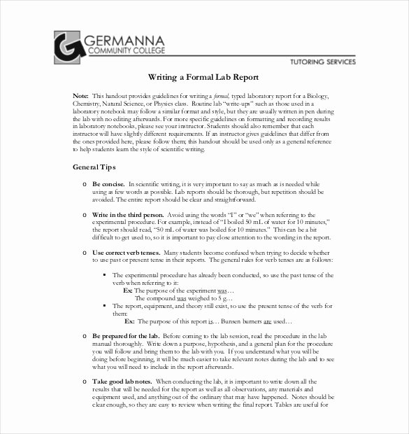 26 Lab Report Templates Pdf Doc