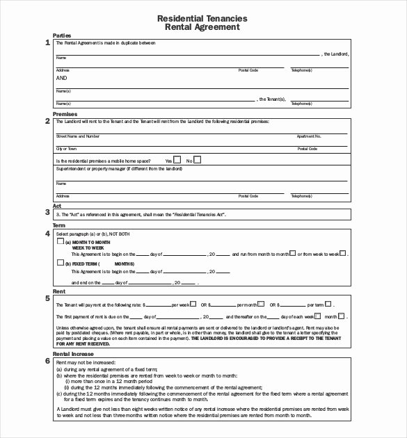 26 Lease Agreement Templates Word Pdf