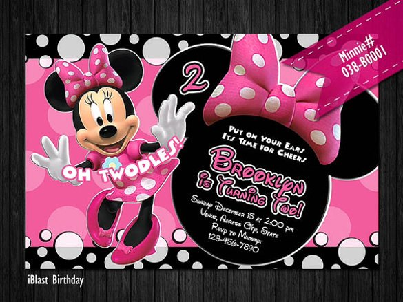 26 Minnie Mouse Invitation Templates Psd Ai Word