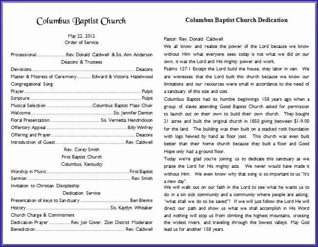 26 Of Church Bulletin Template Microsoft Word