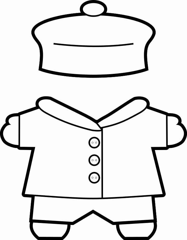 26 Of Coat Template for Paper Dolls