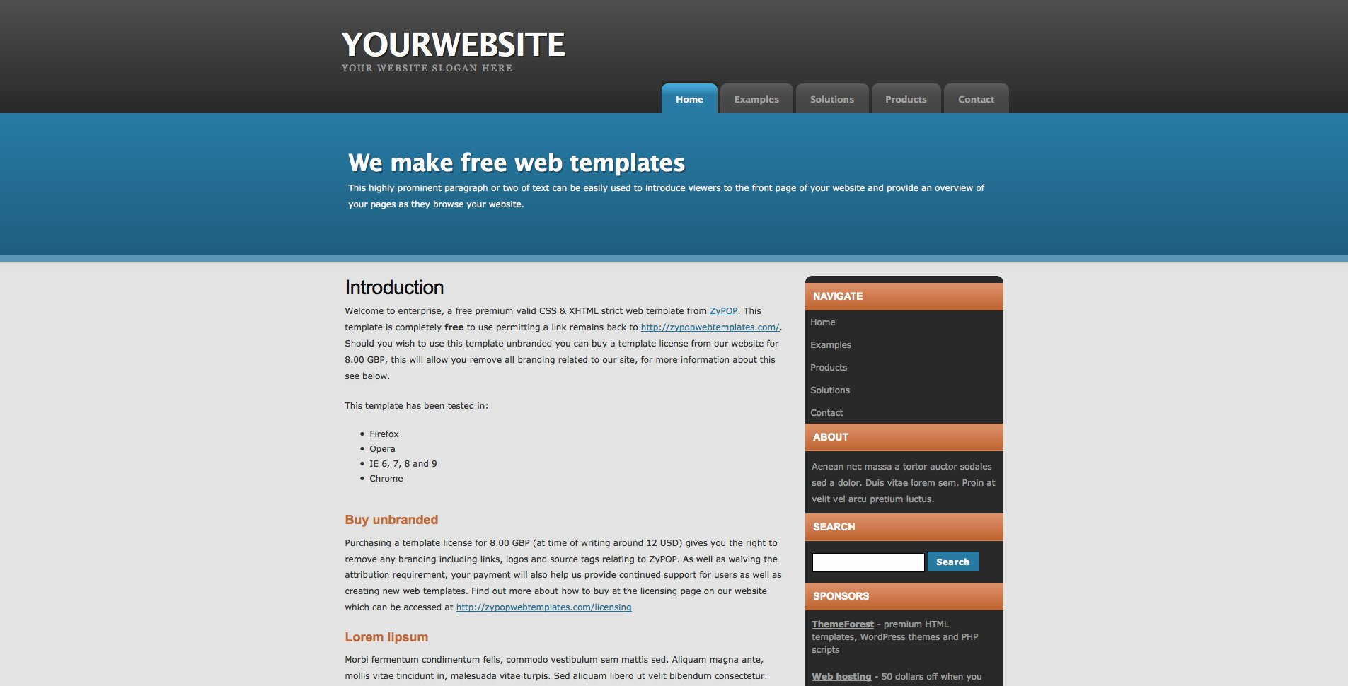 26 Of Free Css Website Template