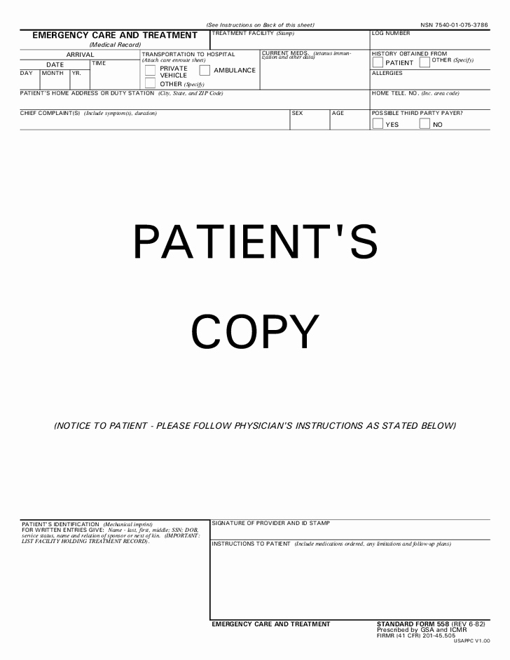 26 Of Free Emergency Room Template