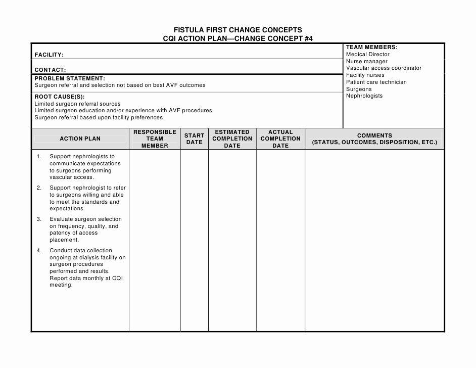 26 Of Nursing Action Plan Template