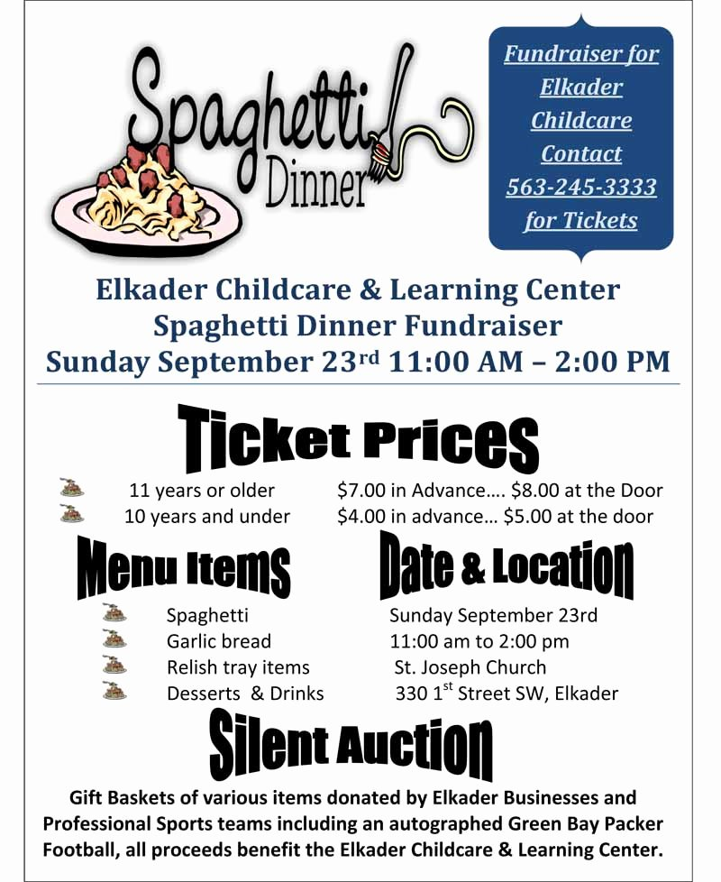 26 Of Spaghetti Fundraiser Flyer Template