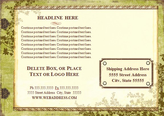 26 Printable Postcard Templates