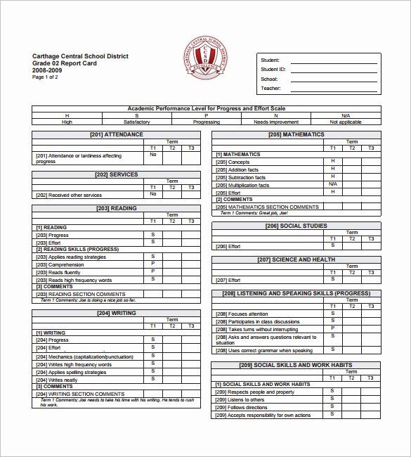 26 Progress Report Card Templates Google Doc Pdf Psd
