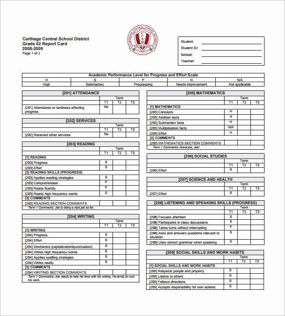 26 Progress Report Card Templates Google Doc Pdf Psd