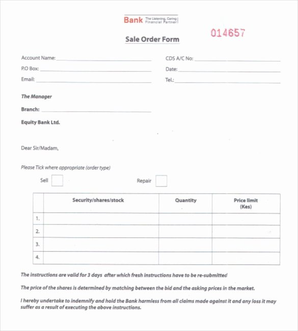 26 Sales order Templates – Free Sample Example format