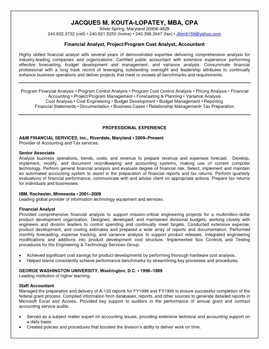 26 Sample Resume for Tax Preparer Example