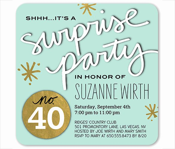 26 Surprise Birthday Invitation Templates – Free Sample
