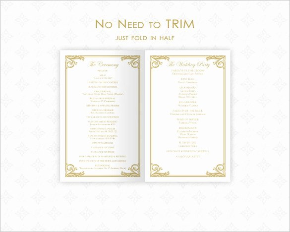 26 Wedding Ceremony Program Templates Psd Ai Indesign