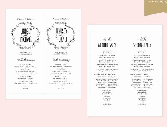26 Wedding Ceremony Program Templates Psd Ai Indesign
