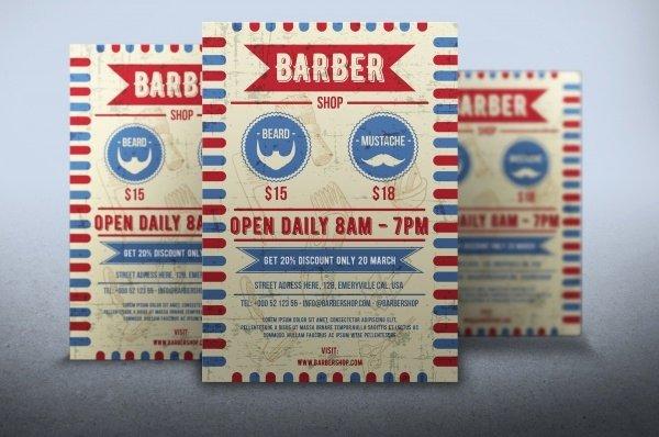 27 Barbershop Flyer Template Psd Vector Eps Jpg