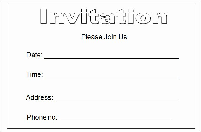 27 Best Blank Invitation Templates Psd Ai