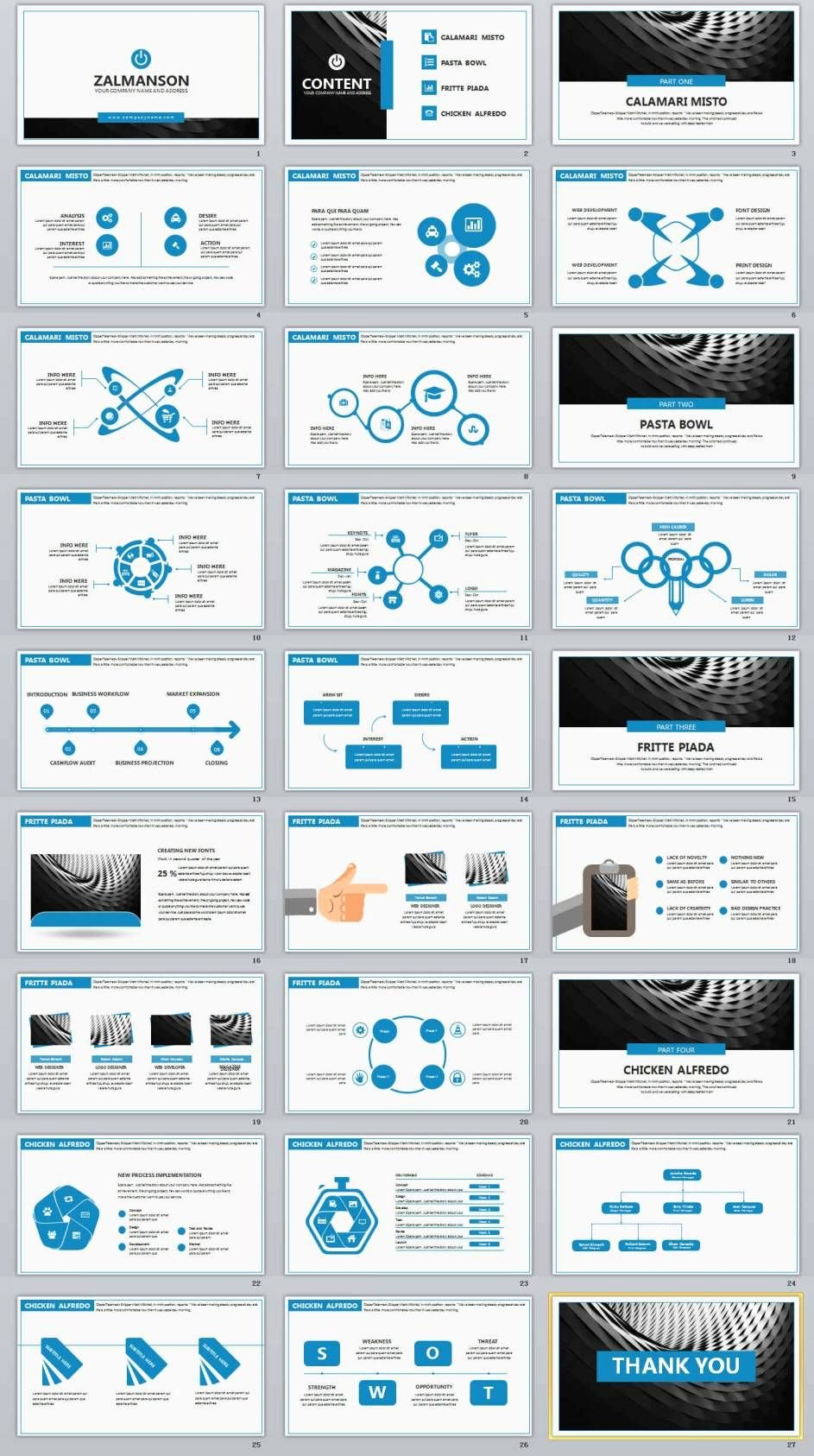 27 Blue Business Professional Powerpoint Templates