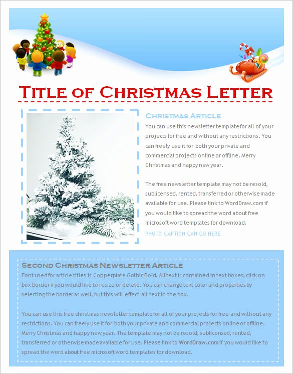 27 Christmas Newsletter Templates Free Psd Eps Ai