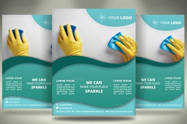 27 Cleaning Service Flyer Designs Psd Vector Eps Jpg