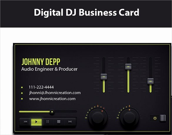 27 Dj Business Cards Templates Shop Ms Word