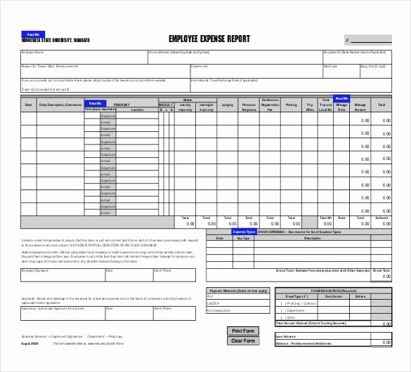 27 Expense Report Templates Pdf Doc