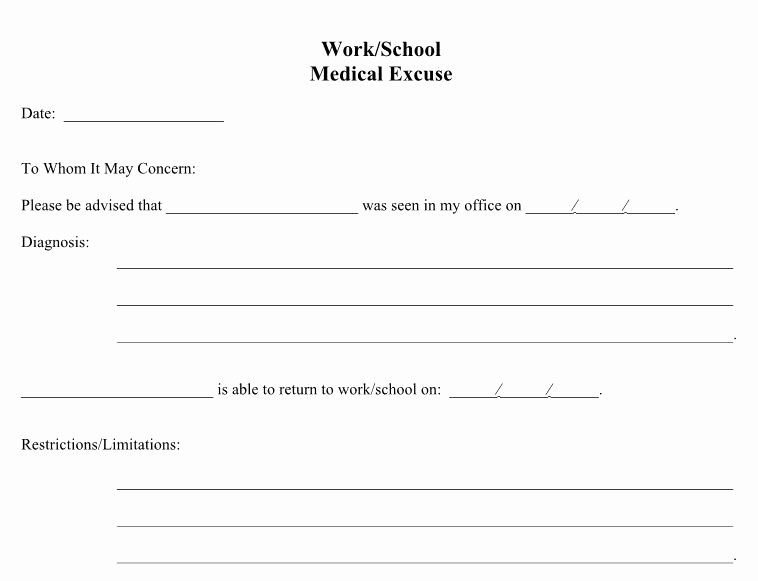 27 Free Doctor Note Excuse Templates Free Template