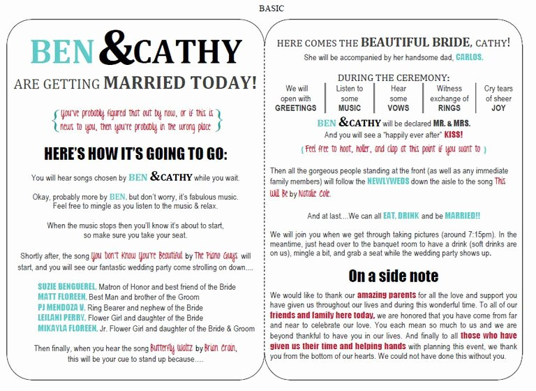 27 Free Wedding Program Templates You Ll Love