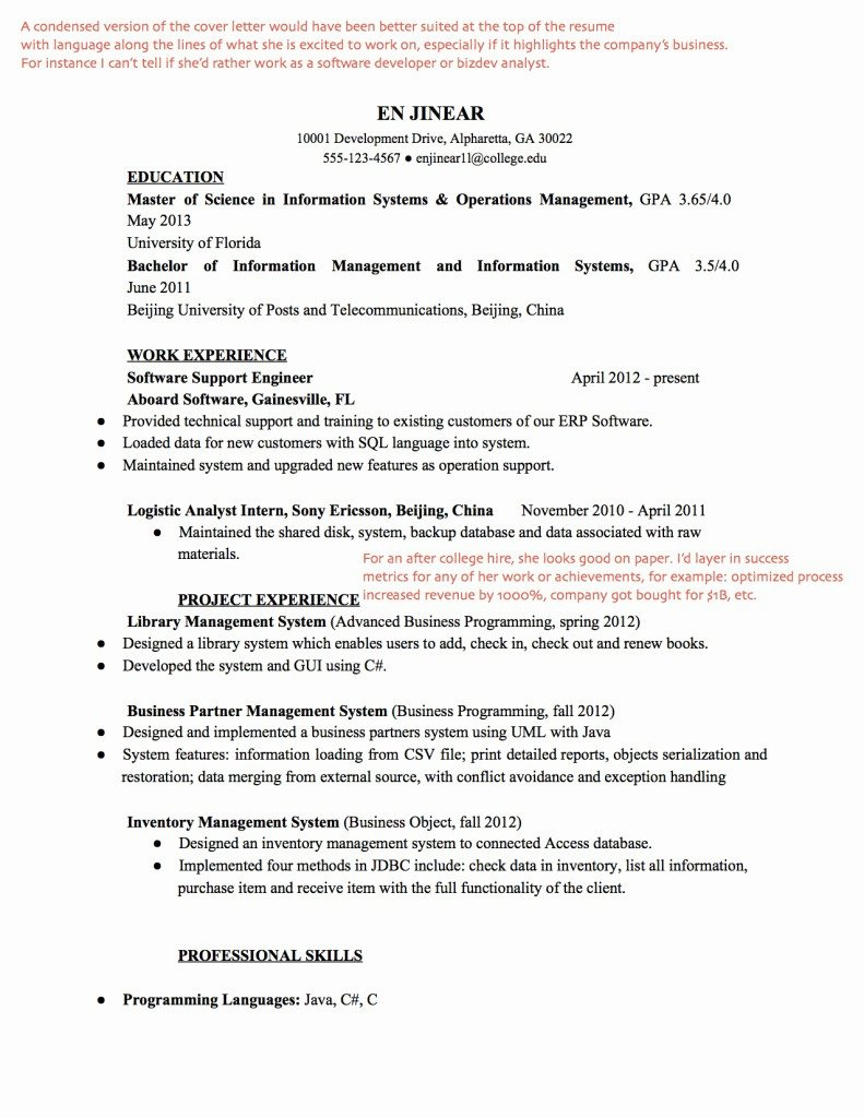 27 Front End Web Developer Resume Example Simple