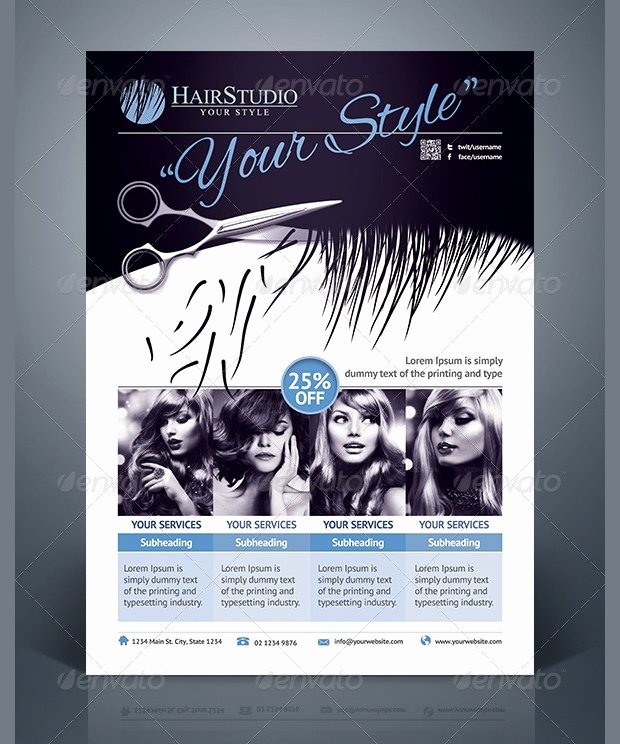 27 Hair Salon Flyer Templates Printable Psd Ai Vector