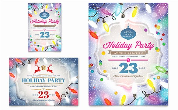 27 Holiday Party Flyer Templates Psd